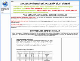 akademik.avrasya.edu.tr screenshot
