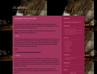 akashnet.wordpress.com screenshot