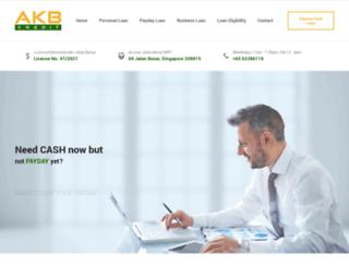 akbmoneylenders.com.sg screenshot