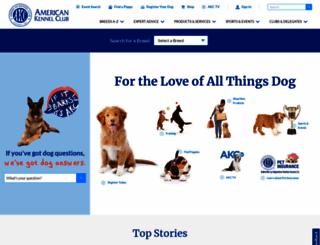 akc.org screenshot