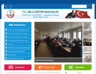 akcaabatihl.meb.k12.tr screenshot