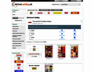 akcneletaky.sk screenshot