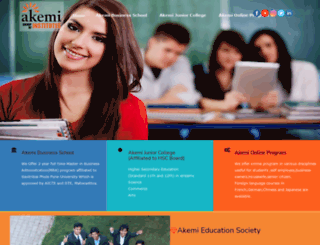 akemi.edu.in screenshot