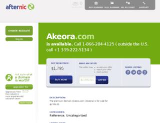 akeora.com screenshot