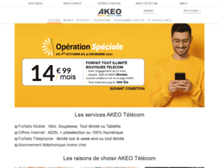 akeotelecom.com screenshot