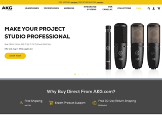 akg.com screenshot