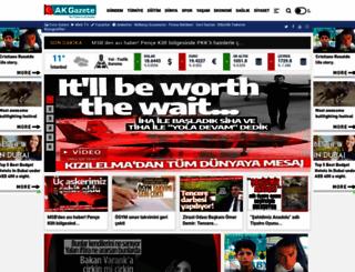 akgazete.com.tr screenshot