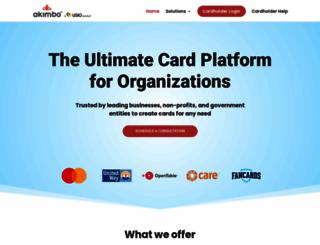 akimbocard.com screenshot