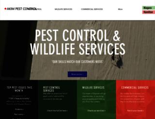 akimpestcontrol.com screenshot
