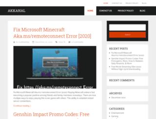 akkanal.com screenshot