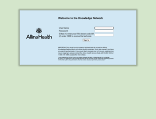 akn.allina.com screenshot