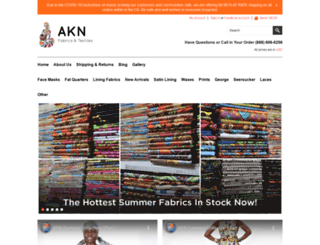 aknfabricsandtextiles.com screenshot