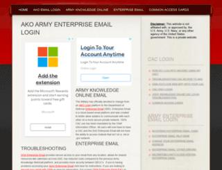 akoarmymil.com screenshot