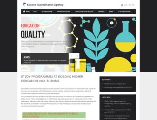 akreditimi-ks.org screenshot