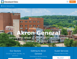 akrongeneral.org screenshot
