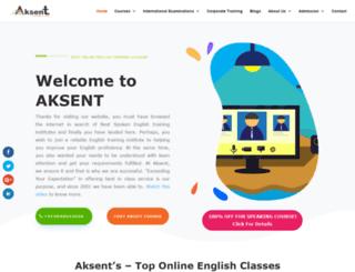 aksent.org.in screenshot