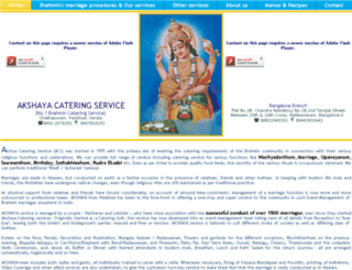 akshayacateringservice.com screenshot