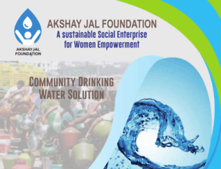 akshayjalfoundation.org screenshot