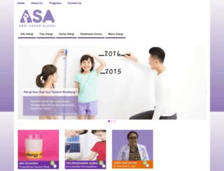 aksisadaralergi.org screenshot