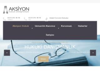aksiyonhukukdanismanlik.com screenshot