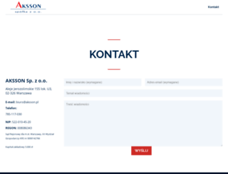 aksson.pl screenshot