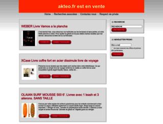 akteo.fr screenshot