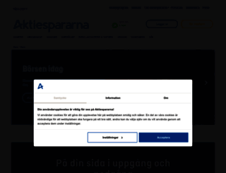 aktiespararna.se screenshot