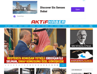aktifhaber.com screenshot