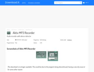 aktiv-mp3-recorder.jaleco.com screenshot