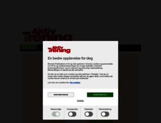 aktivtrening.com screenshot