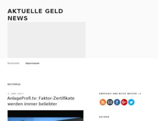 aktuellegeldnews.com screenshot
