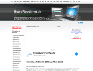 aku.boardresult.pk screenshot