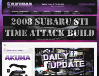 akumamotorsports.com screenshot