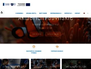 akwarium.gdynia.pl screenshot
