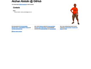 akzhan.github.io screenshot