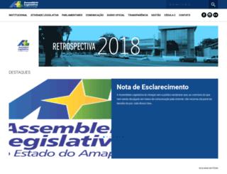 al.ap.gov.br screenshot