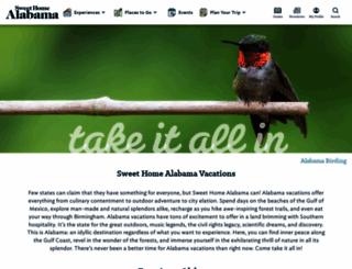 alabama.travel screenshot