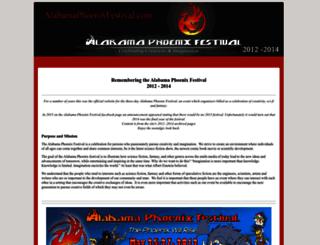 alabamaphoenixfestival.com screenshot