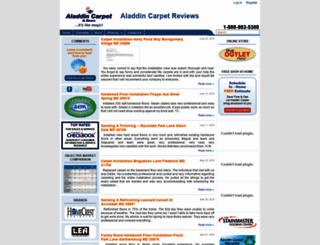 aladdincarpetreviews.com screenshot