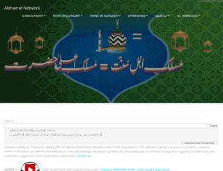 alahazratnetwork.org screenshot