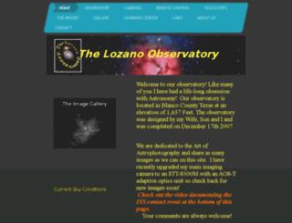 alamoastronomy.org screenshot