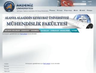 alanyamuh.akdeniz.edu.tr screenshot