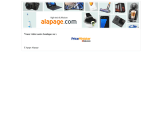 alapage.com screenshot
