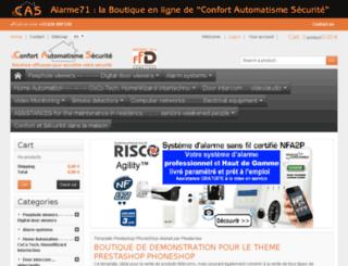 alarme71.fr screenshot