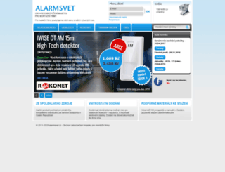alarmsvet.cz screenshot