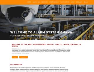 alarmsystemghana.com screenshot