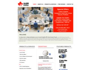 alarmsystems.ca screenshot