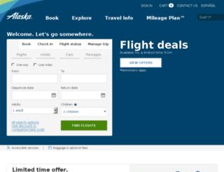 alaskaairlines.com screenshot