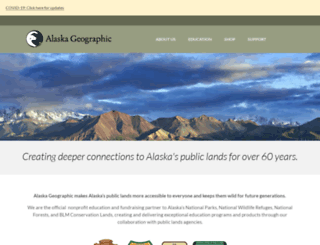 alaskageographic.org screenshot