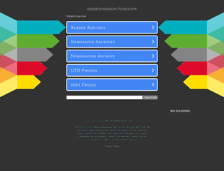 alaskanewsarchive.com screenshot